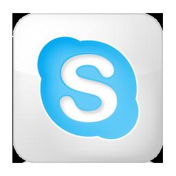 social skype box white 256